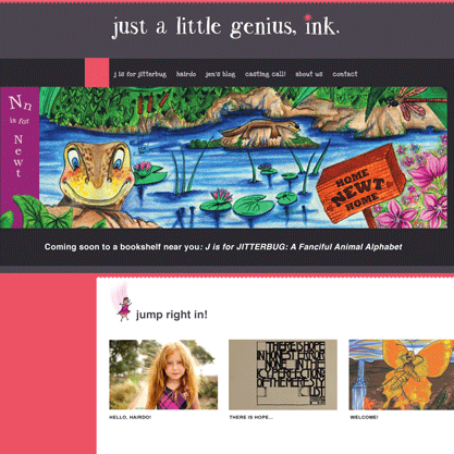 Just a Little Genius, Ink. - Design, Image Editing/Layout, Web Development