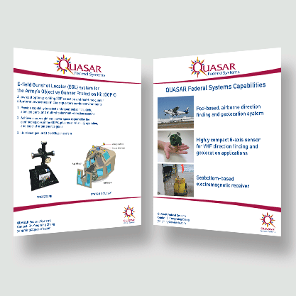 Quasar Federal Systems - Print/Display Marketing Collateral